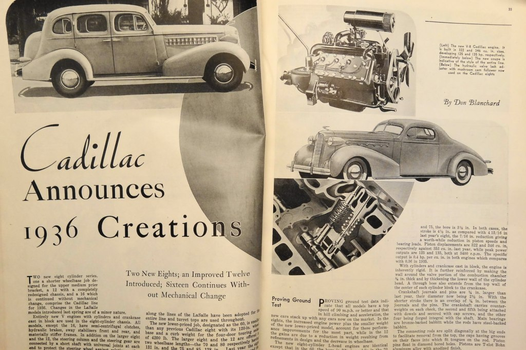 Caddy ad 1936