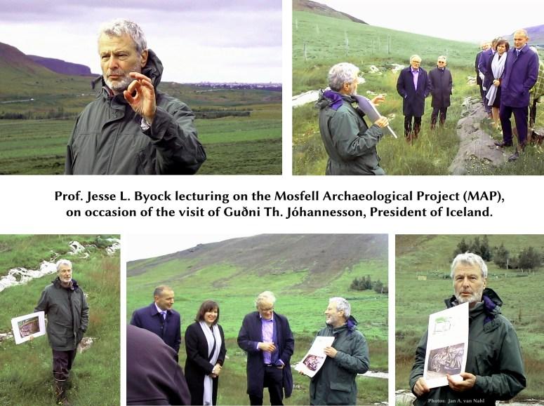 Jesse byock Gudni Th Johannesson President of Iceland Mosfell Hr