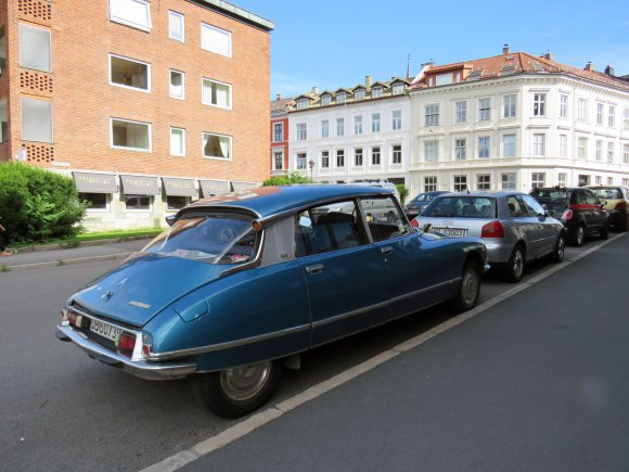 1974 Citroen DS 23 Pallas ID French classic car Norway