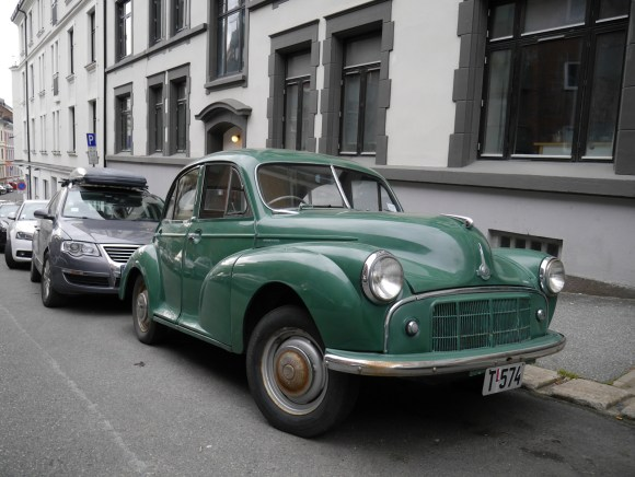 1954 Morris Minor Series 2 Oslo Classic cars parked old