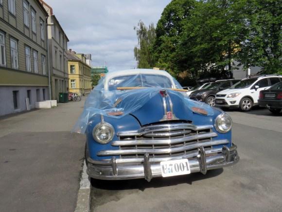 1948 Pontiac Deuxe Torpedo Eight Streamliner sedan coupe Trondheim Norway