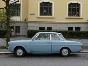 1965 Ford Taunus 12M TS P4 Old parked cars Oslo Norway