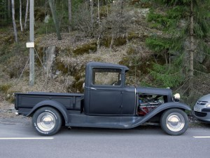 1930 Ford Model A Pickup Hot Rod old parked cars