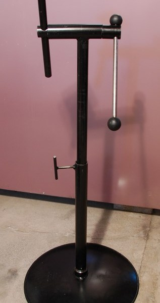 Telescoping Carving Stand, fully extended