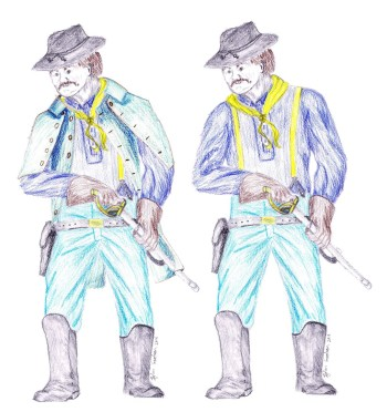 Concept drawing of the 7th Cavalry Officer variation of the Swordsman design
