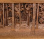 Close up of the center of Dylan Goodson's Homestead carving