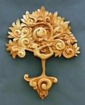 Yoga tree of life custom woodcarving