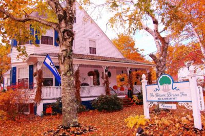 Maine House in The Fall