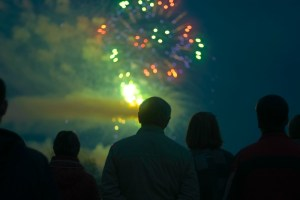 fireworks old orchard beach pier downtown thursday