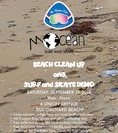 Mocean Beach Clean Up And Surf Skate Demo Old Orchard Beach