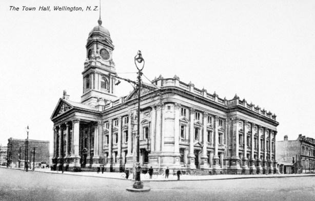 Wellington Town Hall, circa 1904