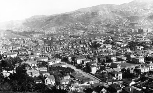 View looking South from Mt Victoria to The Basin Reserve, circa 1900
