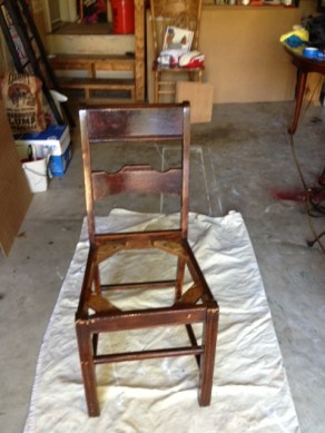 Chair with original stain