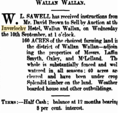 Purchase of Land. The Kilmore Free Press - September 4th, 1873