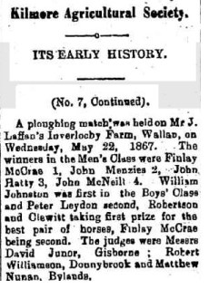 Ploughing Match at Inverlochy Castle Hotel in 1867