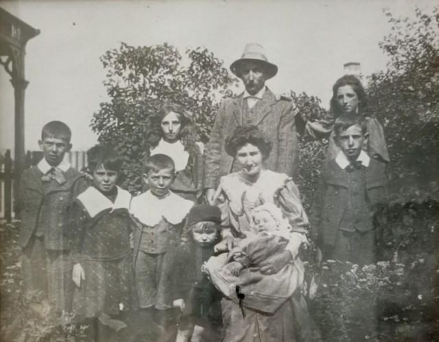 John Francis Laffan and his family