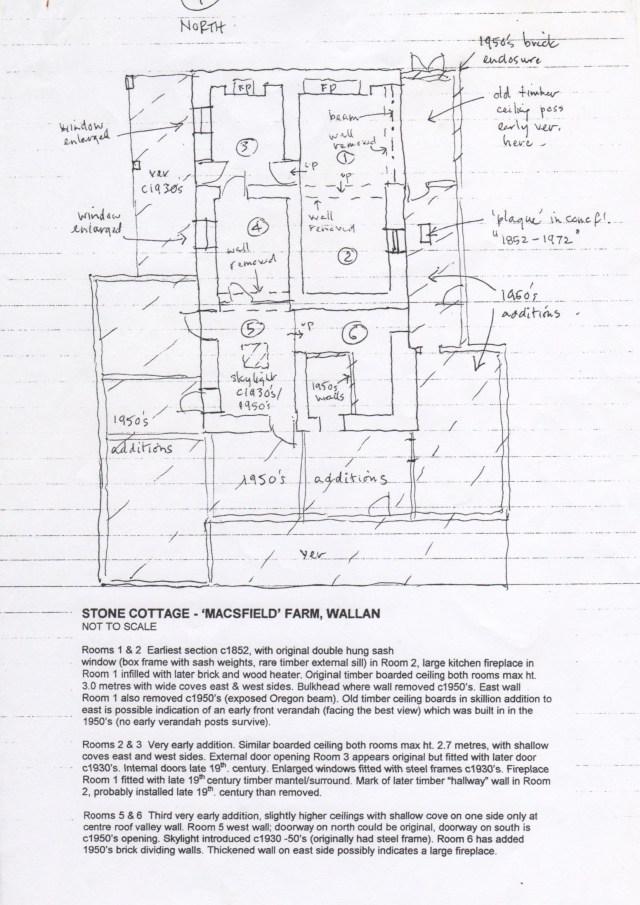 Floor plan of house at Mac'sfield