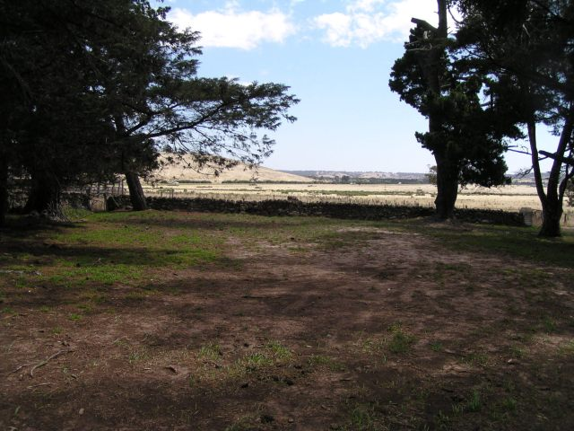 Facing north from the front garden at Mac'sfield