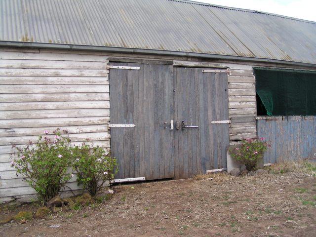 Doors of stable at Mac'sfield