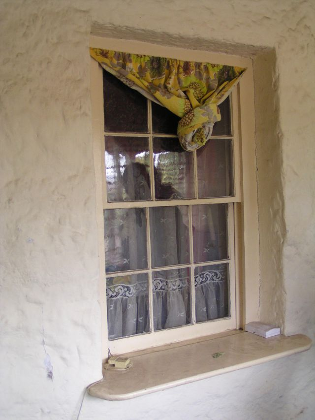 Window of house at Mac'sfield