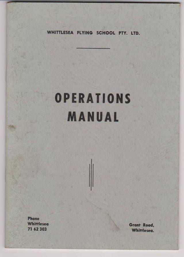 Whittlesea Flying School operations manual