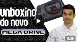 Unboxing do novo Mega Drive da TECTOY