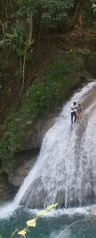 walking-down-waterfall