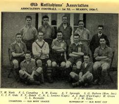 1926-27 1st XIa