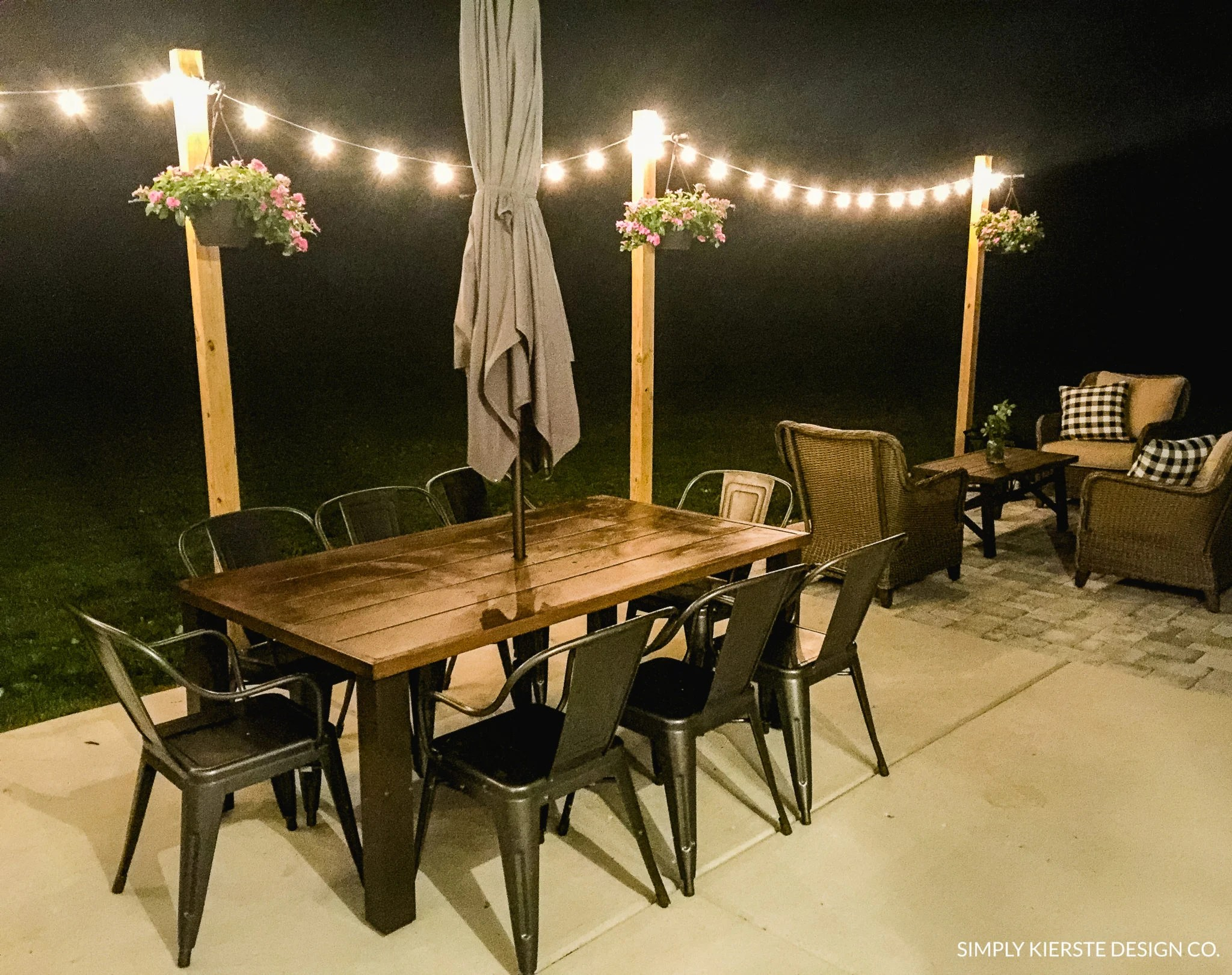 diy posts for outdoor string lights