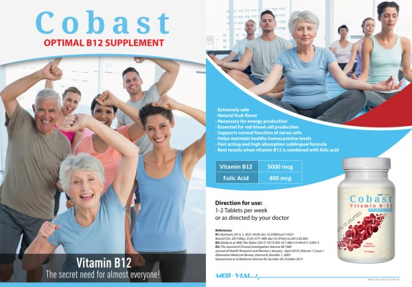 Med-Vial Cobast Vitamin B12 – 10 Tablets –
