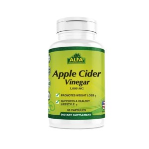 Alfa Apple Cider Vinegar 1000 mg –  60 Capsules –