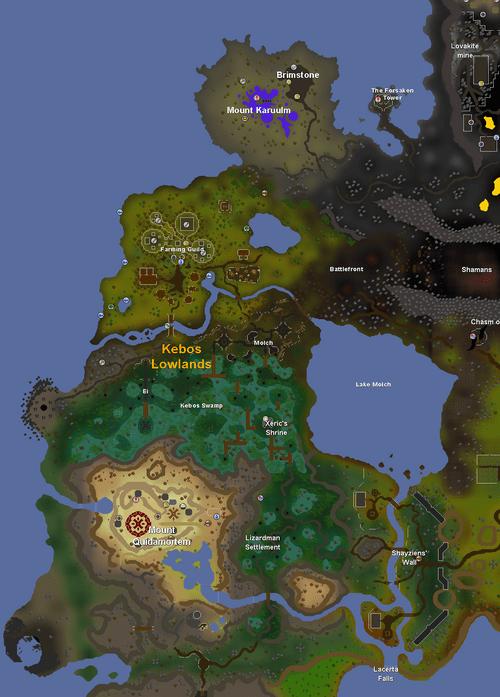 Osrs World Map : world, Update:OSRS, Reveals:, Kebos, Lowlands