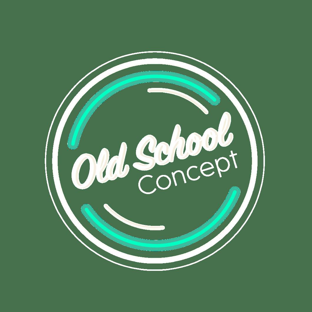 Logo blanc société Old School Concept