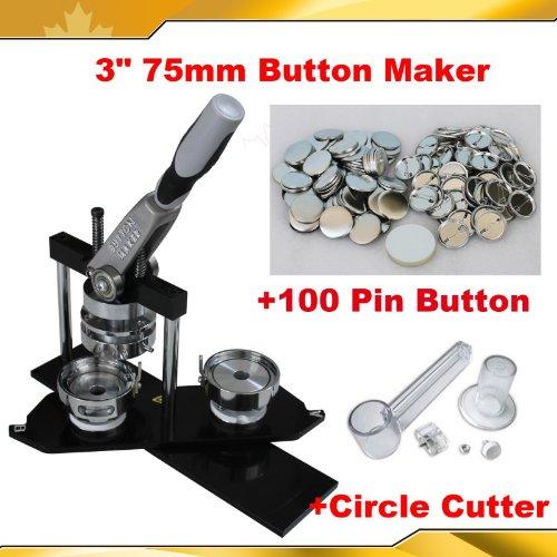 """Button maker All metal 3"""" 75mm Badge Button Maker Machine"""
