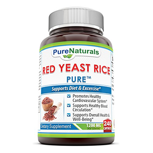 Pure Naturals Red Yeast Rice Dietary Supplement, 1200 Mg, 240 Count