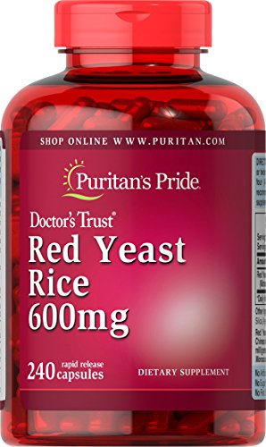 Puritan's Pride Red Yeast Rice 600 mg, Dietary Supplement, 240 Rapid Release Capsules