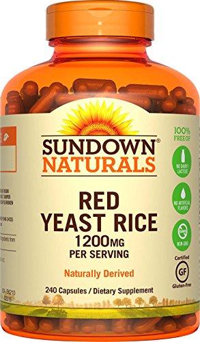 Sundown Naturals Red Yeast Rice 1200 mg Capsules (240 Count)