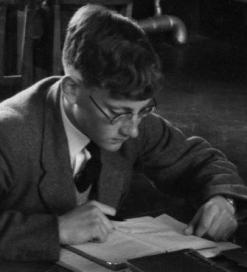 Boy studying at Sherborne School, 1958.