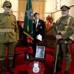 Commemorative Service in memory of 2nd. Lt. R.B.W. Vinter MC, St James Church, Torpoint. Standard bearer Mike Salter, WFR Association Kidderminster branch.