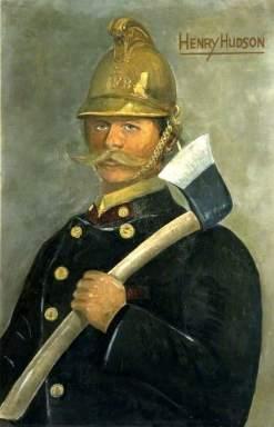 Portrait of John Taylor by Henry Hudson, 1904. (Sherborne Fire Station)