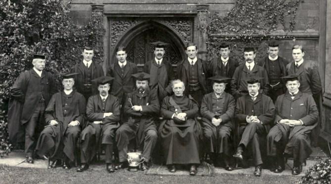 Sherborne School's all-male teaching staff in 1908.