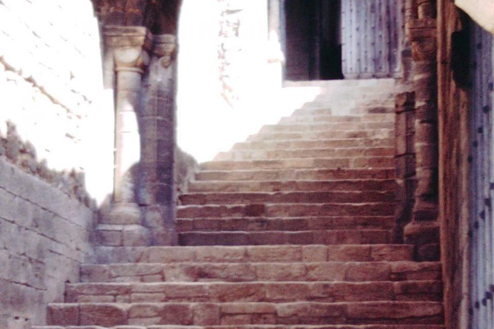 Norfolk - Norfolk-1968-07-Castle-Rising-Staircase.jpg
