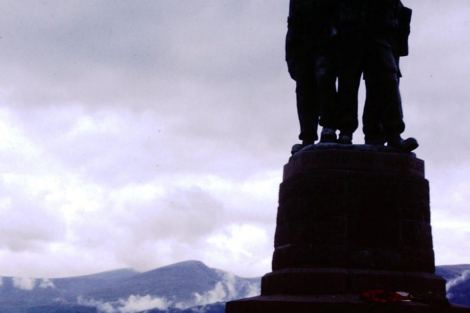 Scotland - Scotland-1979-18-Lord-Lovats-Memorial-at-Spear-Bridge.jpg