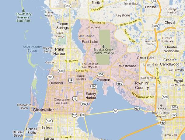 Code 33626 Zip Map