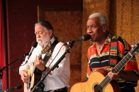 Old favorites, Scott Ainslie & Reggie Harris, perform at the 2017 Festival.