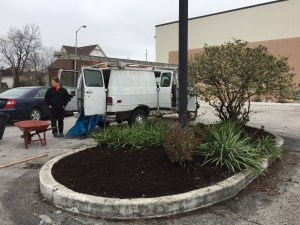 old southside 2017 great indy cleanup sacred heart parish hall landscaping