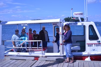 Captain Ralph and Matey Carol Welcoming Aboard a New Tour Group