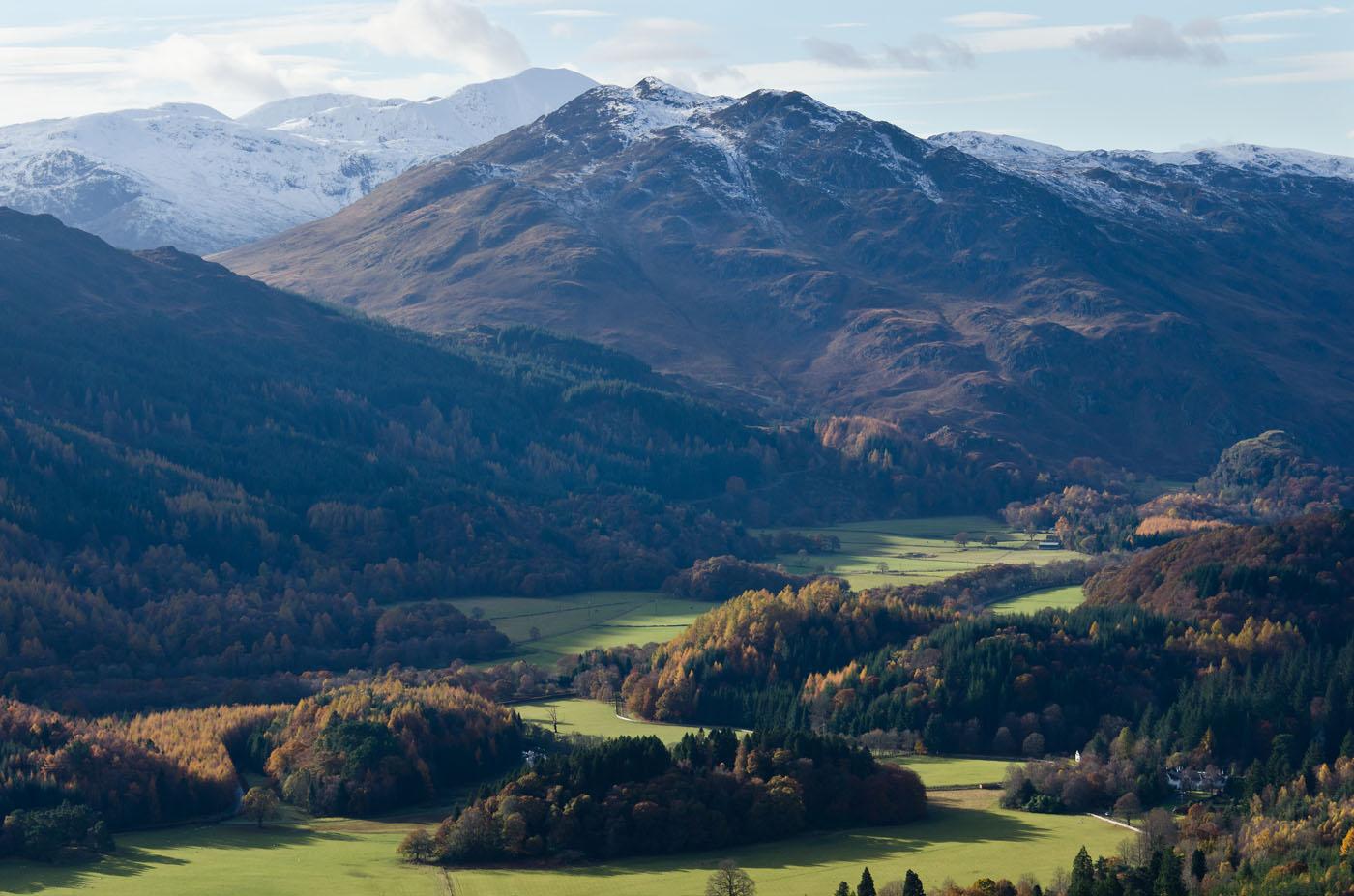 View over Strathearn to Ben Vorlich