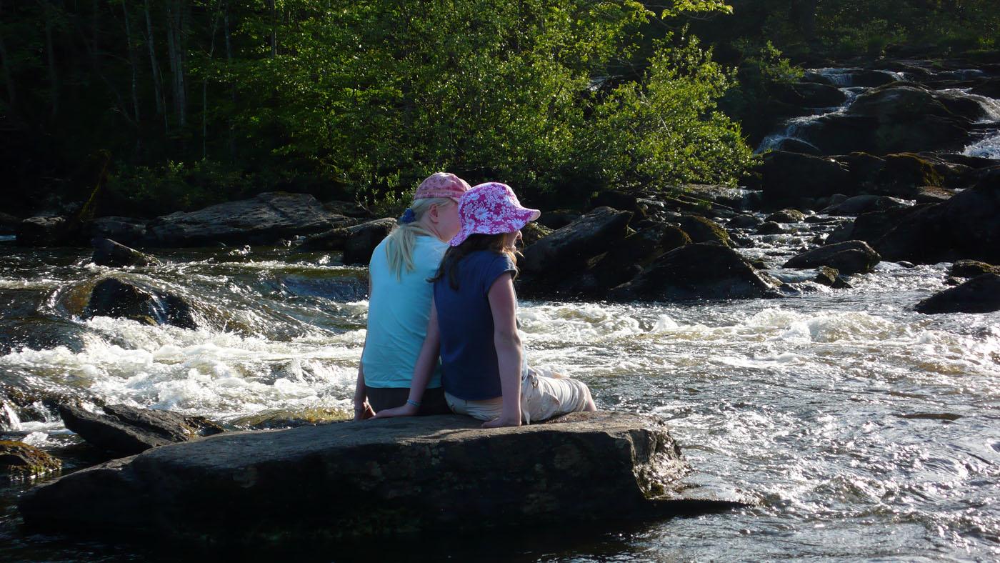 Paddling at Falls of Dochart