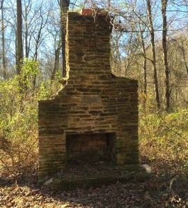 old stone chimney ruins, Mt. Airy, Maryland, old stone homes